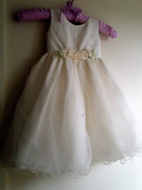Vintage Ivory Flower Girls Dress by Sweetie Pie - Numbered