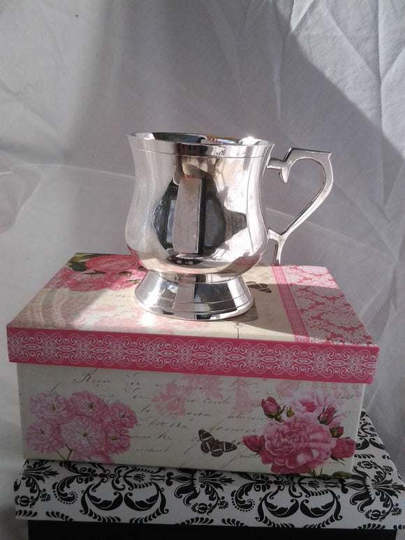 Vintage Silver Plated Baby Cup - Boxed for Gift Giving