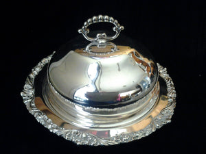 Old Sheffield Reproduction Strachan Silver Plated Serving Dish