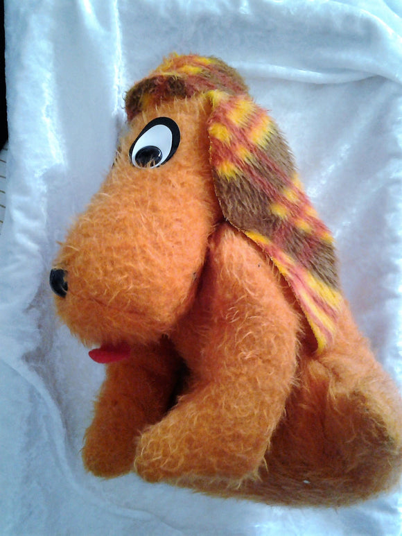 1960's Plush Dog - Retro the Orange Hound Dog