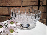 Giftboxed Edwardian Fine Tableware Square Cut Glass Fruit Bowl with Silver Plated Pedestal Base - Antique