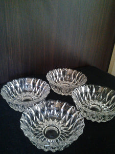 "Set four  ""Chalet""  Full Lead Crystal Bowls"