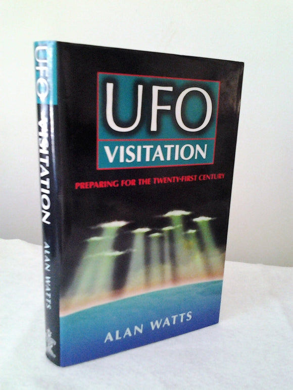 UFO Visitations  Hardcover Book w/ dust jacket by Alan Watts- Reprint 1996