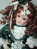 Limited Edition Musical Red Hair Green Eyed Bisque Doll