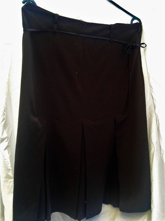 Vintage Ladies Pleated Office Skirt Fully Lined Size 10