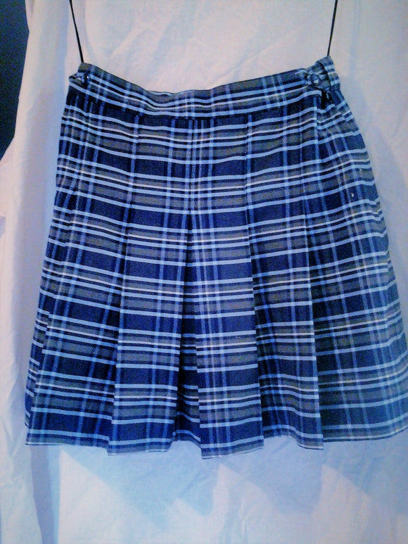 Vintage Winter School Uniform Skirt Birdwood - Tartan Pleated Skirt - Girls Size 12