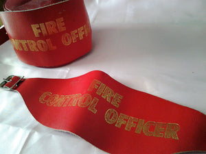 Vintage Leather Fire Control Officer Armband