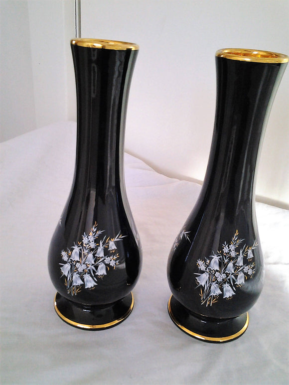 Pair Pinknash Benedictine Monk Pottery Vases