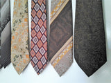1960/70s  Mens Neck Ties - Seven Ties Large Bundle