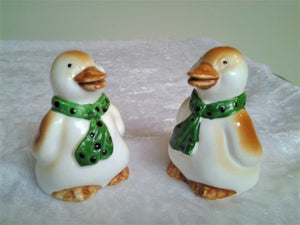 Vintage Ceramic Salt and Pepper Shakers - Penguins