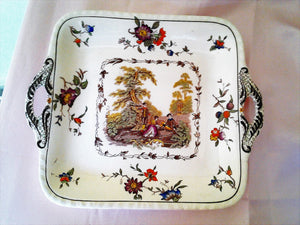 "Mason's Patent Ironstone ""Watteau"" Handled Serving Dish C4824 - Collector's Plate"