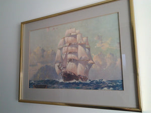 "Print of The Wool Clipper ""Cutty Sark"""