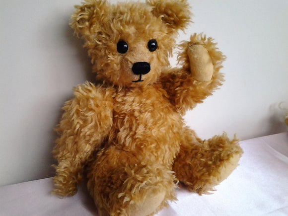 Vintage Jointed Teddy Bear - Handmade - One of a Kind
