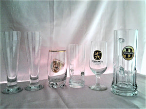 Assorted Bundle of Beer Tankards and Glasses - Bar Glasses