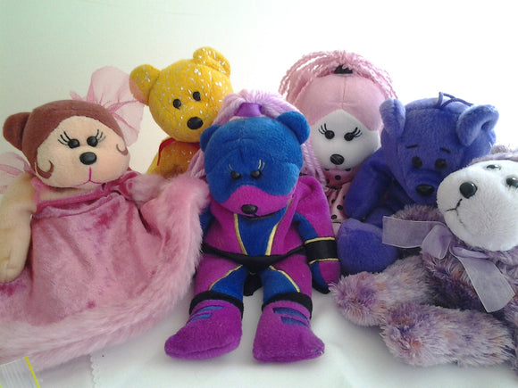 Beanie Kidz Bears Bulk Lot of Six