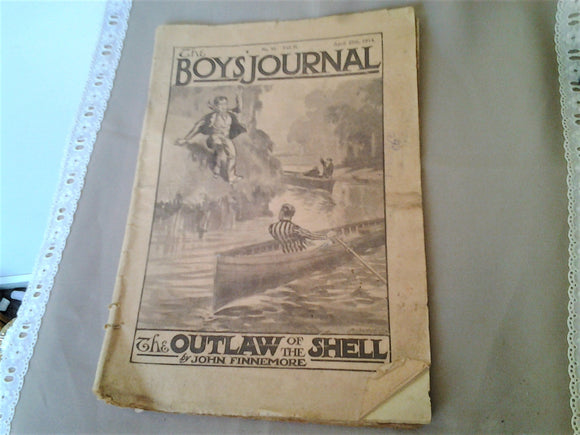 Antique 1914 Boys Journal Magazine - Original NOT PDF