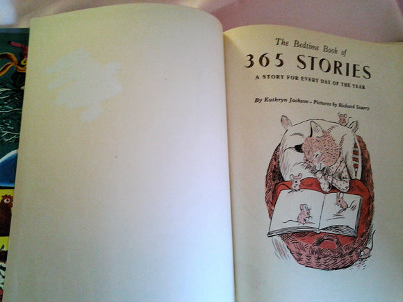 The Bedtime Book of 365 Stories by Kathryn Jackson Illustrated Richard Scarry - 1972 Edition