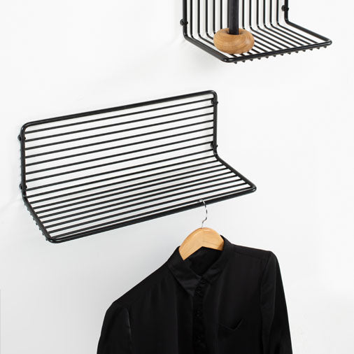 Liquorice shelf by young Finnish designer Henri Judin. Henri has studied furniture design in Aalto University and now he works at Vivero Oy.