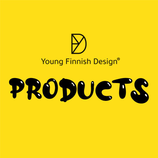 Young Finnish Design products are designed by young emerging Finnish designers Laura Väre, Minna Kemppainen, Lassi Alestalo, Henri Judin.