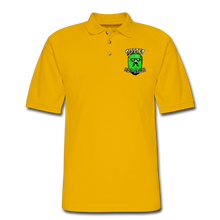 Load image into Gallery viewer, Men's Pique Polo Printed Logo Shirt - Yellow