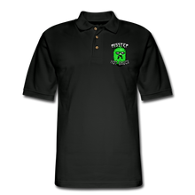 Load image into Gallery viewer, Men's Pique Polo Printed Logo Shirt - black