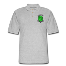 Load image into Gallery viewer, Men's Pique Polo Printed Logo Shirt - heather gray