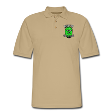 Load image into Gallery viewer, Men's Pique Polo Printed Logo Shirt - beige