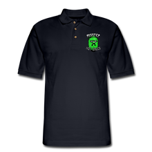 Load image into Gallery viewer, Men's Pique Polo Printed Logo Shirt - midnight navy
