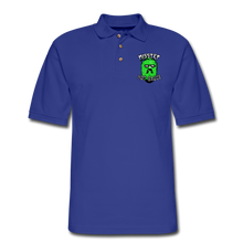 Load image into Gallery viewer, Men's Pique Polo Printed Logo Shirt - royal blue