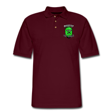 Load image into Gallery viewer, Men's Pique Polo Printed Logo Shirt - burgundy