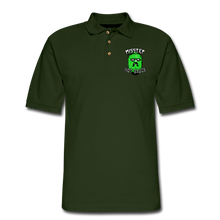 Load image into Gallery viewer, Men's Pique Polo Printed Logo Shirt - forest green