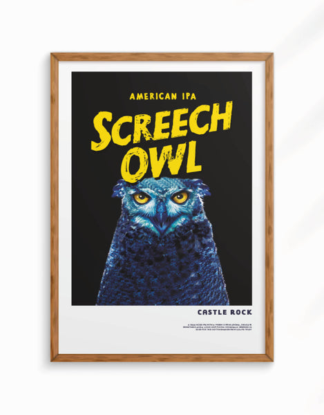 Limited Edition - Screech Owl Giclee Fine Art Print, A3