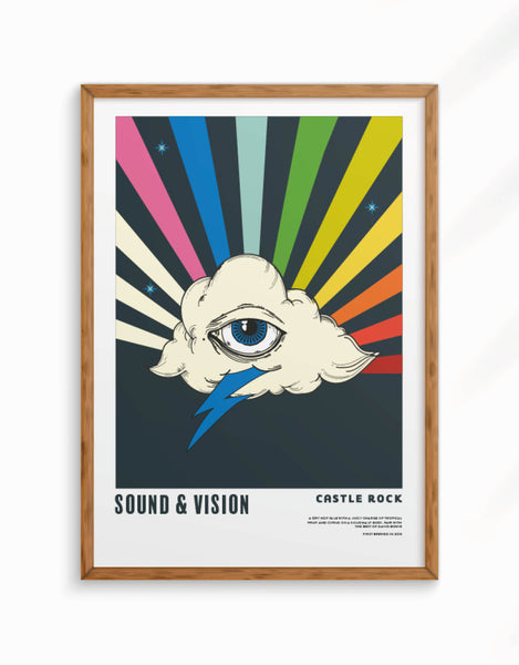 Limited Edition - Sound and Vision Giclee Fine Art Print, A3