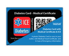 Load image into Gallery viewer, Diabetes Card - Medical Certificate