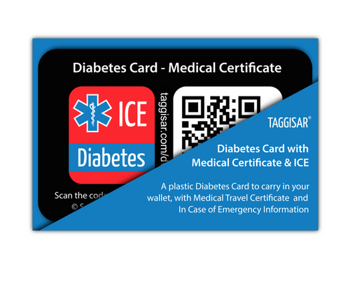 Diabetes Card - Medical Certificate