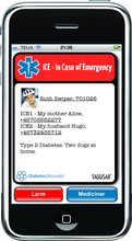 Load image into Gallery viewer, ICE stickers - Diabetes