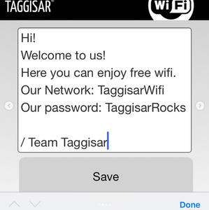 Tap Stickers - 3-pack Wifi