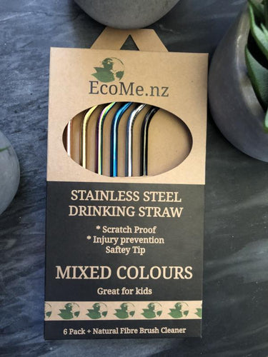 Stainless Steel Drinking Straws - 6 Pack
