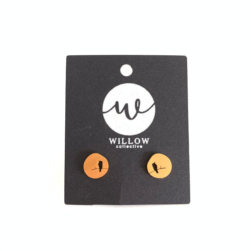 Bird on a Wire Stud Earrings