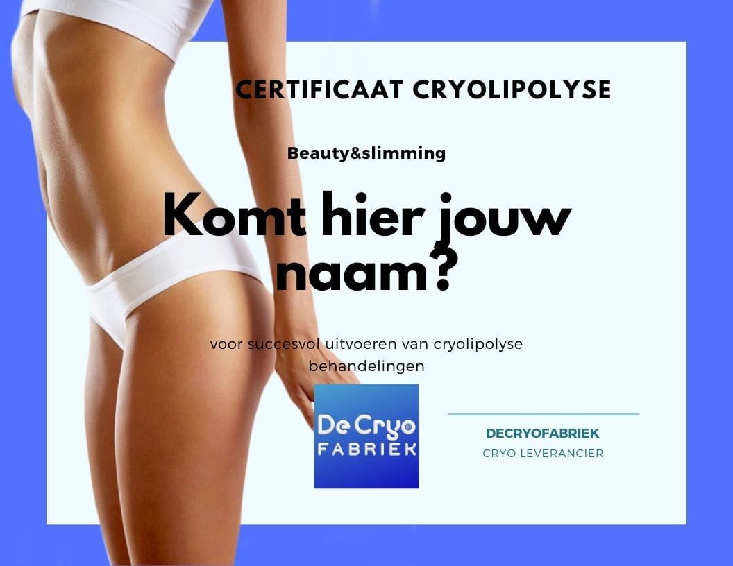 certificaat cursus opleiding cryolipolyse