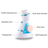 Facial Cleansing Brush With Changeable Heads & Stand
