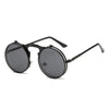 Flip Up Steampunk Sunglasses Black