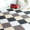 Interlocking Foam Mat Brown-Black-Whit-Bei / 30x30x1cm 12pcs