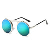 Flip Up Steampunk Sunglasses Cyan