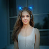 Flashing Cat Ear Headphones