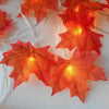 Lighted Maple Leaves Garland