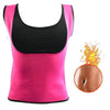 Women's Slimming Sauna Vest rose red / 4XL