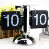 Retro Flip Digital Clock Black