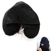 Travel Pillow with Hood Black / 30X28X9