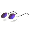 Flip Up Steampunk Sunglasses MediumPurple